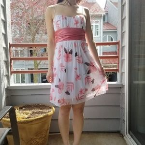 Speechless Pink and White Floral Dress sz S